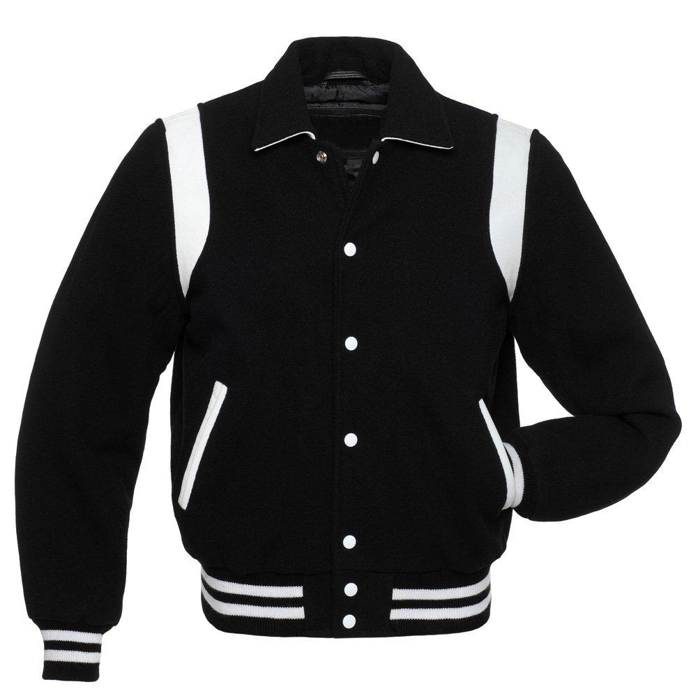 Taichi Black Wool Body & Black Wool Arms College,Varsity Jacket