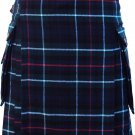 Mackenzie Tartan Kilt  with Cargo Pocket Traditional Highlands Mackenzie Tartan Kilt 32""