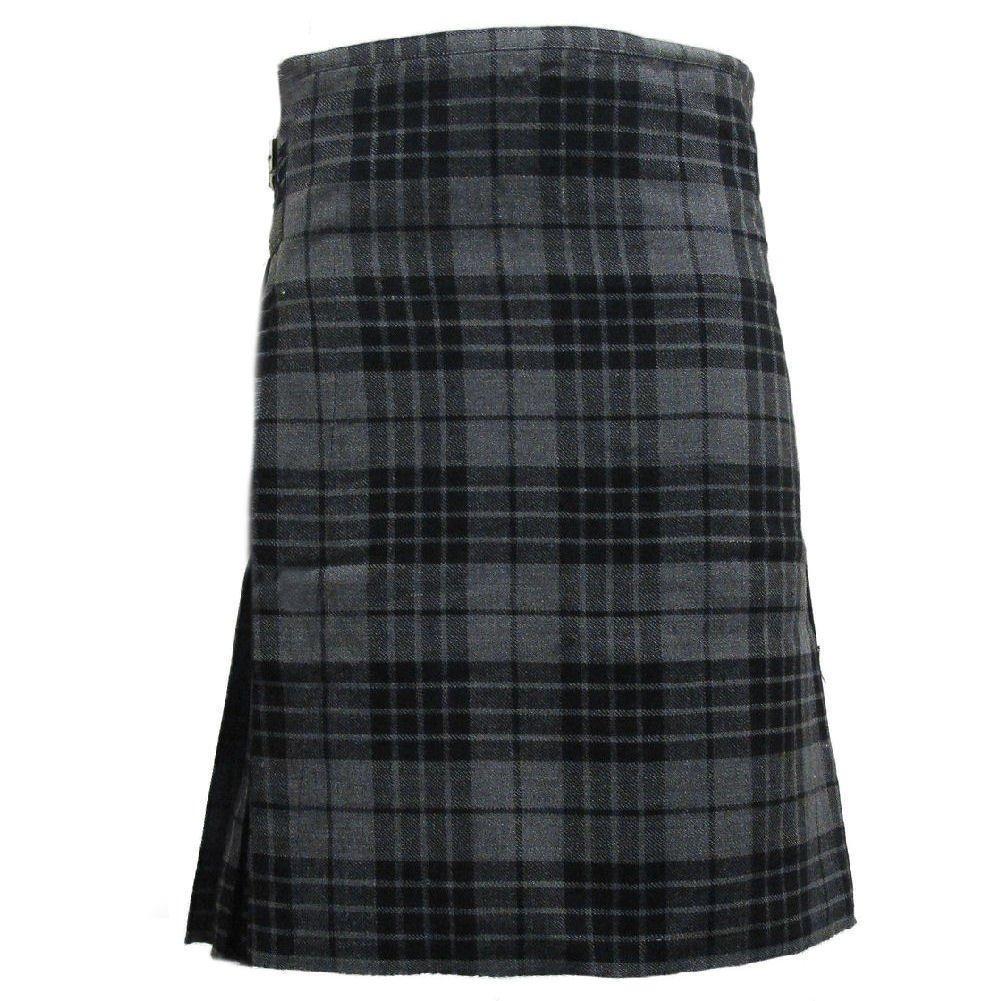 Scottish Highland Kilt Grey Watch Tartan Kilt 8 Yards 30-50 Size