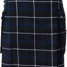Size 32 Modern Pocket Douglas Blue Tartan Prime Kilt Scottish Highland Wears