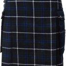 Size 36 Modern Pocket Douglas Blue Tartan Prime Kilt Scottish Highland Wears