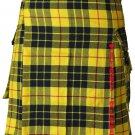 34 Size Utility Pocket Mcleod of Lewis Tartan Modern Kilt Scottish Highlander Wears
