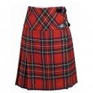 Size 34 Ladies Royal Stewart Tartan Pleated Kilt Knee Length Skirt in Royal Stewart Tartan