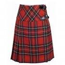 Size 52 Ladies Royal Stewart Tartan Pleated Kilt Knee Length Skirt in Royal Stewart Tartan