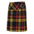 Size 34 Ladies Billie Pleated Kilt Knee Length Skirt in Buchanan Tartan