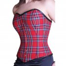 Red 5 Locks Steel Bone Satin Under bust Corset Bustier Waist training Shaper