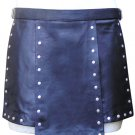 30 Size Real Leather Gladiator Kilt with Stud Work Custom Made in Black Blue Red