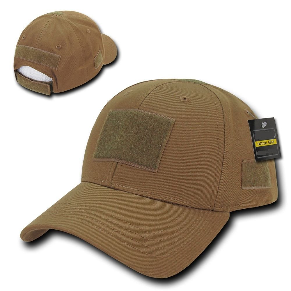 Solid Coyote Brown Tactical Operator Low Crown Contractor Military Patch Cap Hat