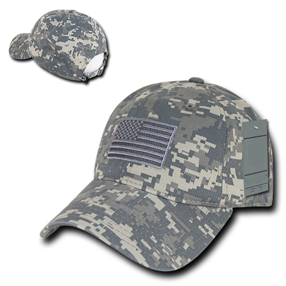 ACU Camo USA US American Flag United States America Army Polo Baseball Hat Cap