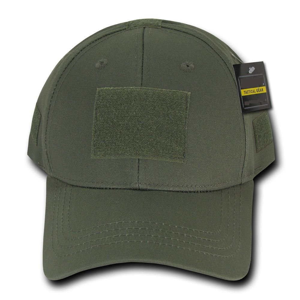 Olive Green Tactical Operator Contractor Patch Low Crown Baseball Cap Hat