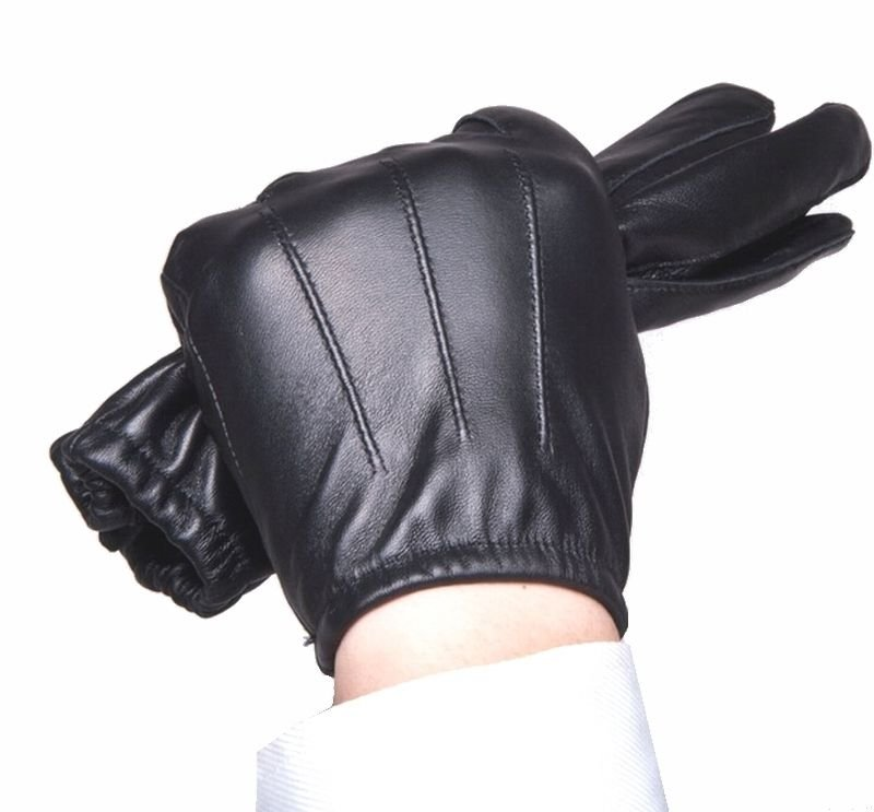 Men's Police tactical 100% genuine leather gloves Driving Gloves