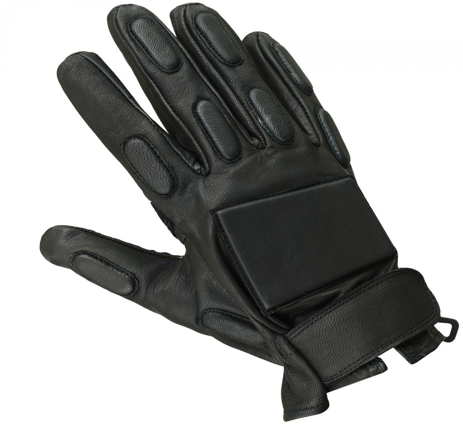 Police Leather Glove Tactical Riot Military Security Training Ass