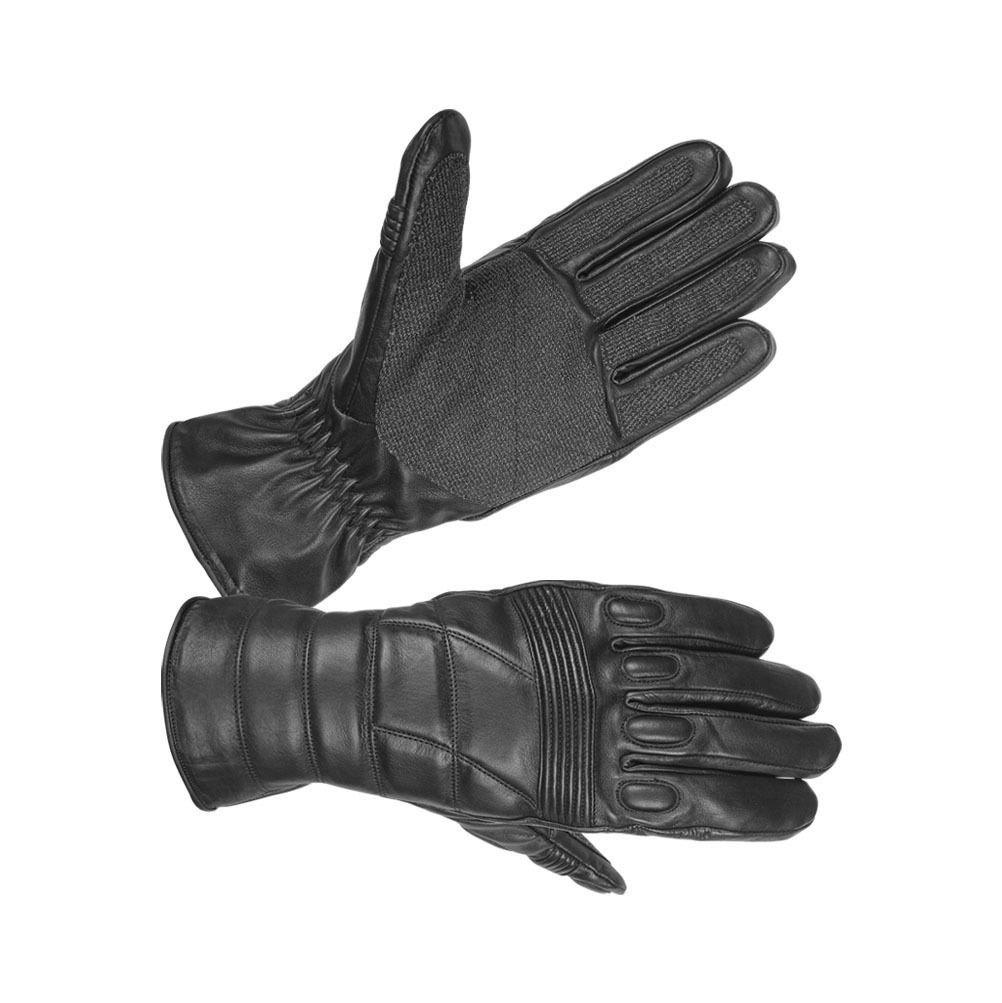 Hugger Fireproof Leather Police SWAT Riot Gloves Military Training Carbon-Tek
