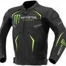 Monster Energy Leather Motorcycle Racing Jacket
