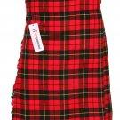 46 Size Men's Scottish Wallace Tartan Kilt 5 Yard 13oz Tartan Kilt  Wedding Kilts
