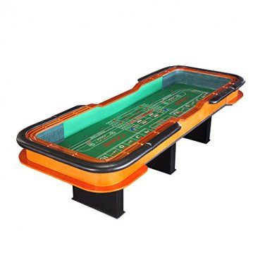 12 Foot Deluxe Craps Dice Table with Diamond Rubber Green