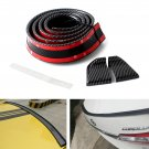 Universal All-Fit PU Trunk or Roof Lip Spoiler Body Kit Trim 4.5ft (145cm/1.4m)