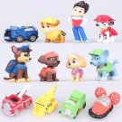 12pcs/set Canine Patrol Dog Toys Anime Doll Action Figures Car Patrol Puppy T...