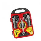 7pcs Flexible Head Ratchet Spanner Combination Wrench Set Auto Repair Hand To...