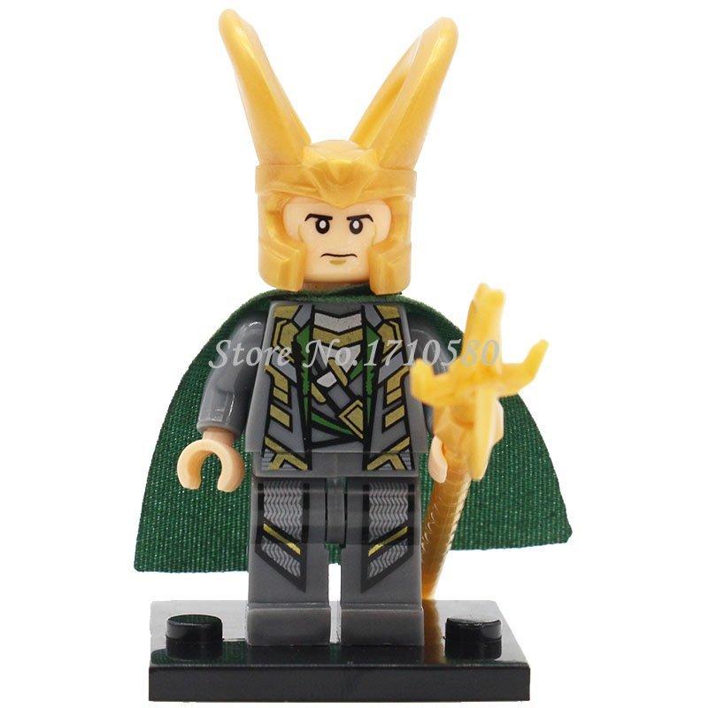Loki Minifigures XINH 010 Marvel Super Heroes The Avengers Building Block Set...