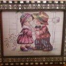 Seashell picture frame - handmade