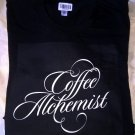 Coffee Alchemist Logo Black Tee (American Apparel)