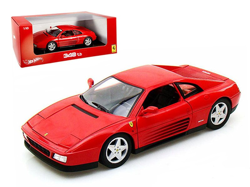 Ferrari 348 TB Red 1/18 Diecast Car Model by Hotwheels