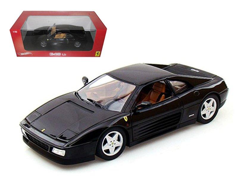 Ferrari 348 TB Black 1/18 Diecast Car Model by Hotwheels