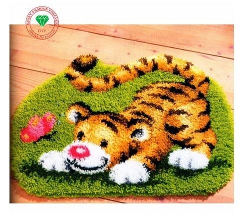 Cartoon Tiger Latch Hook Rug Kit
