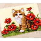 Kitten in Flowers Rug Hooking Kit
