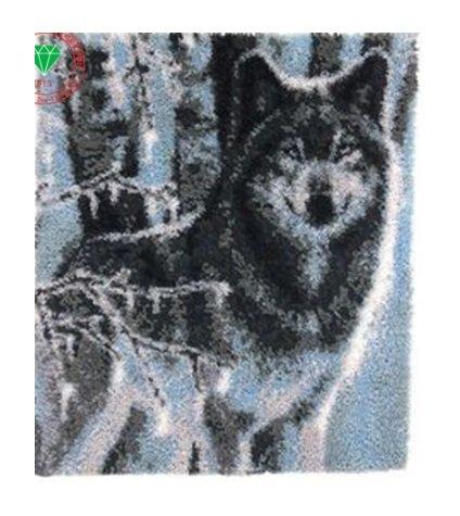 "Winter Wolf Rug Hooking kit (24.5""x33.5"")"