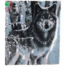 "Winter Wolf Rug Hooking kit (33.5""x43.25"")"