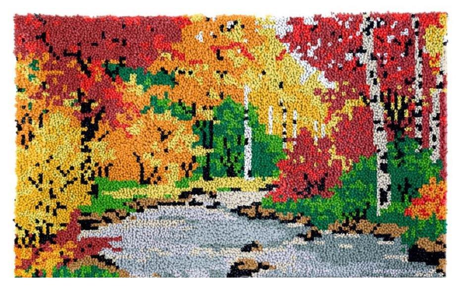 Autumn Rug Latch Hooking Kit (58x87cm)