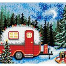 Winter Scene Rug Latch Hooking Kit (61x87cm)