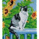 Cat in Garden Rug Latch Hooking Kit (58x87cm)