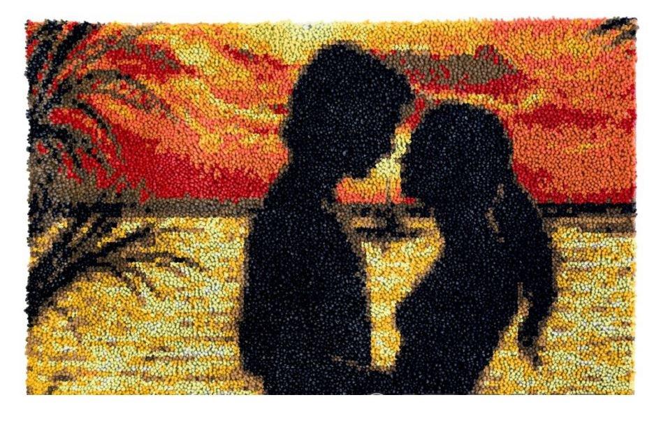 Sunset Romance Rug Latch Hooking Kit (85x59cm)