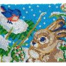 Rabbit and Bird Rug Latch Hooking Kit (81x61cm)