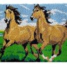 Running Horses Rug Latch Hooking Kit (85x58cm)