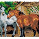 Two Horses Rug Latch Hooking Kit (81x61cm)