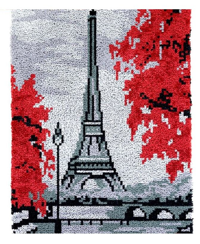 Paris Autumn Rug Latch Hooking Kit (58x86cm)