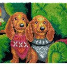 Two Puppies Rug Latch Hooking Kit (81x61cm)