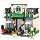 City Mini Street Coffee Shop 3D Model Building Blocks