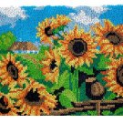 Sunflower Field Rug Making Latch Hooking Kit  (85x58cm blank canvas)