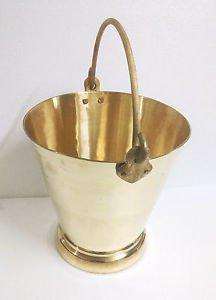 Traditional Indian brass water storage bucket liquid farm milk feeding bathroom