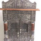 "NEW WOODEN OXIDIZED HINDU POOJA MANDIR PUJA TEMPLE 22"" x 12"" x 9"" GOD HANUMAN"