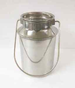 Stainless steel milk oil liquid storage can jug pot for dairy farm 2 liters