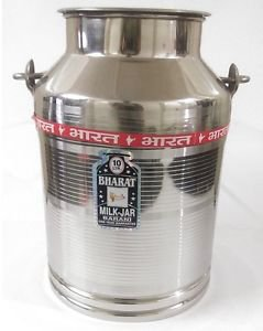 Stainless steel milk oil liquid storage can jug pot for dairy farm 10 liters