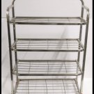 NEW STAINLESS STEEL SHOE RACK STAND 4 TIER 12 PAIR OF SHOES STORAGE ORGANIZER