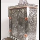 "SMALL ELEGANT WOODEN OXIDIZED HINDU POOJA MANDIR PUJA TEMPLE GOD 12"" x 6"" x 16"""