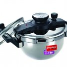 PRESTIGE CLIP-ON STAINLESS STEEL 3.5 LITER PRESSURE COOKER KADAI INDUCTION + GAS